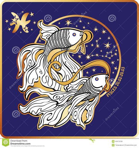 horoskop fisch sternzeichen vektor abbildung illustration fische marine 44474159