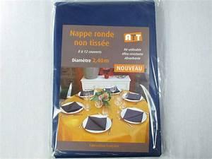 Nappe Bleu Marine : nappe ronde tnt bleu marine decofete ~ Teatrodelosmanantiales.com Idées de Décoration