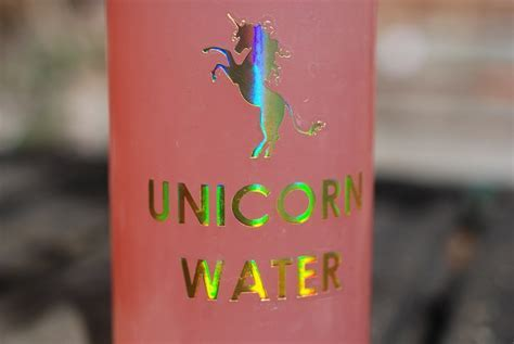 Unicorn Water Stickers for Girls Water Bottles x 10