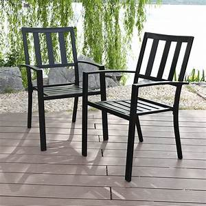 Mf, Studio, Metal, Patio, Outdoor, Dining, Chairs, Set, Of, 2, Stackable, Bistro, Deck, Chairs, For, Garden