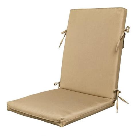 solid color hinged indoor outdoor chair cushion