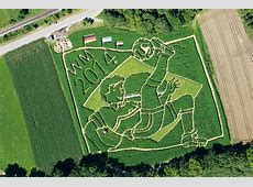 Amazeing! German farmers create World Cup themed