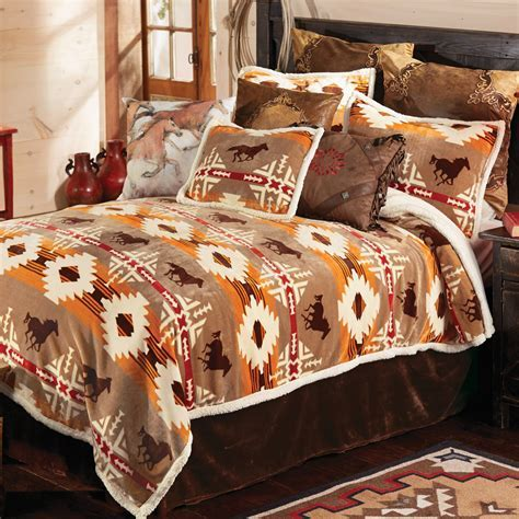 Western Bedding Sets: King Size Running Free Horse Bed Set