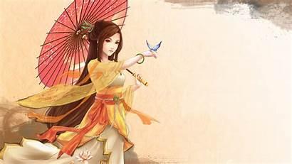 Asian Japanese Oriental Anime Desktop Section Orange