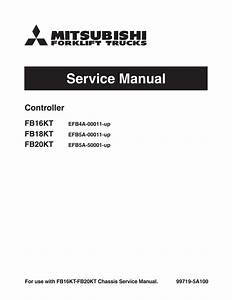 Mitsubishi Fb18kt Forklift Trucks  Controller  Service