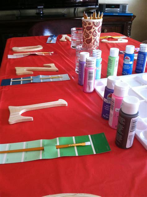 girls  birthday paint party artist birthday