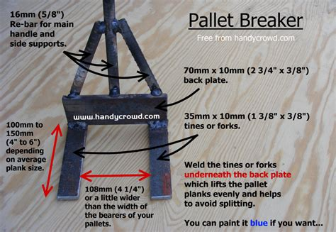 homemade pallet breaker easily   scrap materials