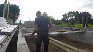 poser une dalle avec des entrevous polystyrene youtube With prix dalle beton maison