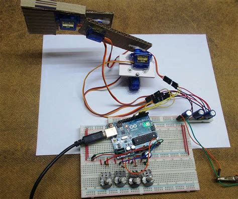 diy arduino robotic arm project  circuit diagram code