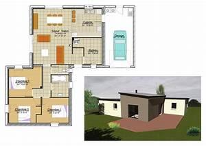 modele maison cubique cool maison cubique de plainpied With awesome plan de maison neuve 5 maison architecte moderne mc immo