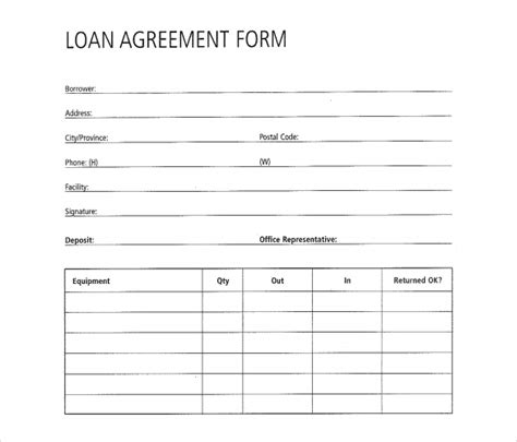 great loan agreement template