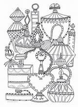 Coloring Adult Perfume Bottles Books Sheets Printable Bottle Vk раскраска Chanel Colouring Adults Dior источник Ml Drawings Draw Coloriage sketch template