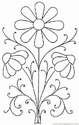 Pattern Embroidery Flower Coloring Printable Pages Print Patterns Flowers Floral Punch Needle Designs Template Easy Paint Simple Hand Painting Embroidered sketch template
