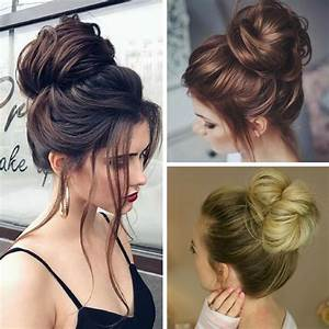 A messy bun is a simple updo with an elegant look! How to wear a Sparkle Gown Pinterest