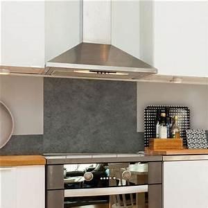 Credence Fond De Hotte : elica hotte de cuisine d corative belt verre noir et inox ~ Dailycaller-alerts.com Idées de Décoration