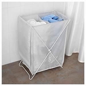 TORKIS Laundry basket White/grey 90 l - IKEA