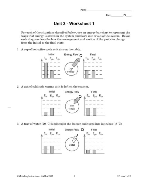 Modeling Chemistry Unit 3 Worksheet 1 Answers Resultinfos