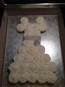 wedding dress cupcake cake bridal shower cakecentralcom With wedding dress cupcake cake