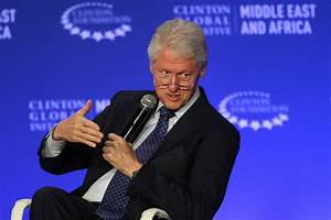 Emotional Bill Clinton discusses leaving foundation if ...