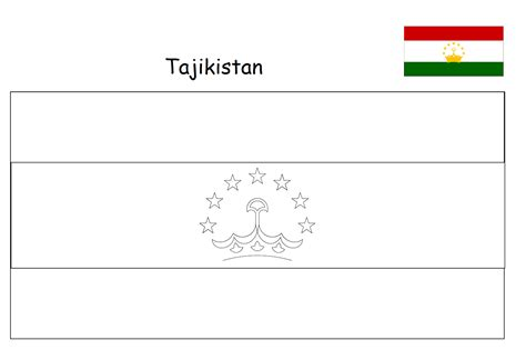Geography Blog: Tajikistan flag coloring page