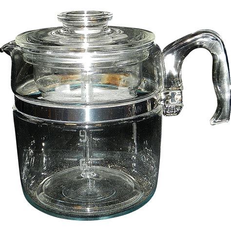 coffee pot on stove vintage pyrex flameware 6 9 cup stove top coffee pot percolator from mygrandmotherhadone on ruby