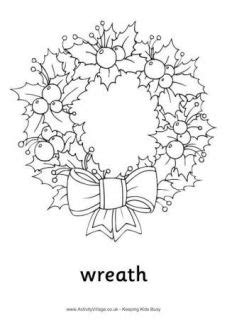 christmas wreath printables
