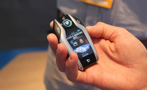 bmw reveals key fob  display   autoguidecom news