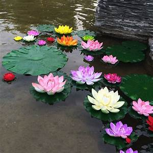 1pcs Artificial Lotus Water Lily Floating Flower Pond Tank