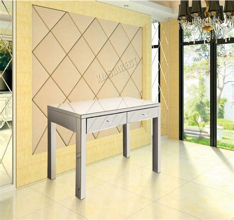 console chambre a coucher foxhunter mirrored furniture glass dressing table with