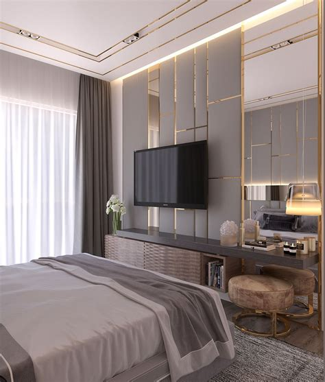 Houzify Home Design Ideas by Modern Style Bedroom Dubai Project On Behance Bedroom