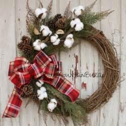 the cotton christmas grapevine wreath by bluemountainburlap wreaths pinterest wreaths