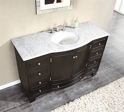 5 foot vanity top single sink silkroad 55 inch single sink bathroom vanity carrara white
