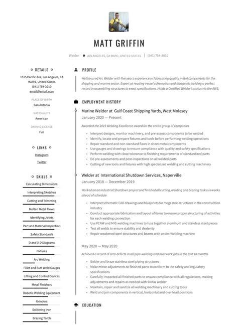 18 Free Welder Resume Examples & Guide | PDF | 2020