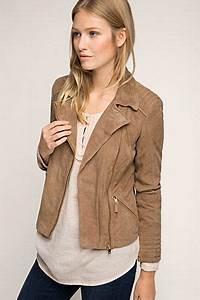 Blouson En Daim Femme : esprit veste style motard en doux cuir de ch vre veste cuir veste cuir et veste en cuir femme ~ Melissatoandfro.com Idées de Décoration