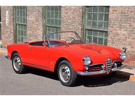 1960s Alfa Romeo by 1960 Alfa Romeo Giulietta Spider For Sale Classiccars