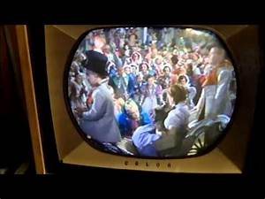 Vintage Round Tube Color Tv Rca Ctc-7 Nearly Finished