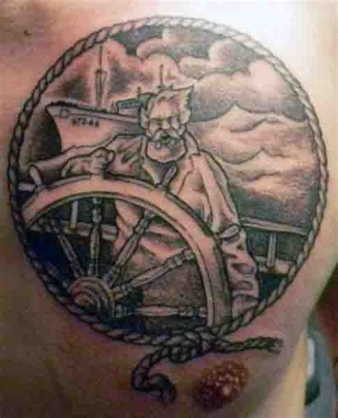 ship wheel tattoo designs  men  meaningful voyage