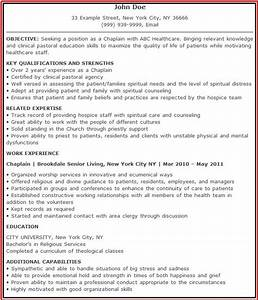 Chaplain resume free excel templates for Chaplain resume