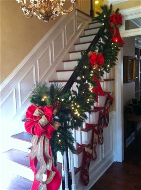 stair garland ideas top 36 ideas about stair garland on staircase decoration