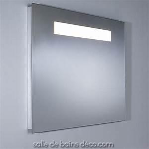 miroir salle de bain lumineux sur mesure conforama With miroir lumineux sur mesure