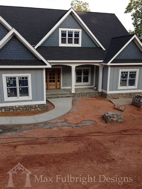 craftsman house plans with basement craftsman style ranch with walkout basement hwbdo77120