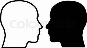 Human head silhouettes | Stock Vector | Colourbox