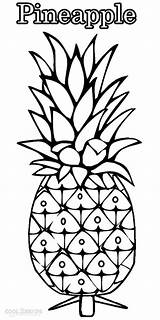 Pineapple Coloring Pages Drawing Outline Printable Fruit Cool2bkids Fruits Getdrawings Drawings Easy Children Pdf Template sketch template