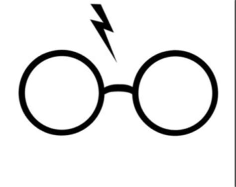 Harry Potter Glasses and Scar Iron-On Heat by angelafairbanks