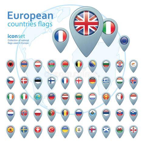 insieme delle bandiere europee illustrazione di vettore fotografia stock immagine 52832688