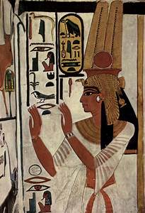 ancientart: Ancient Egyptian painting of Queen...