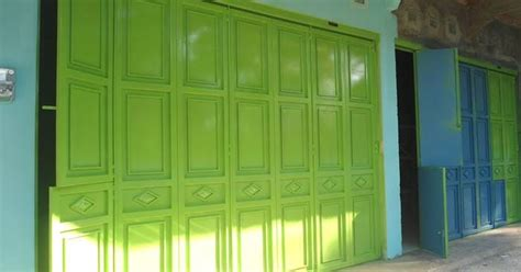 pintu lipat besi minimalist art