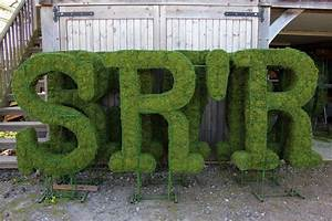 Topiary letters and numbers agrumi bespoke topiary for Topiary letters