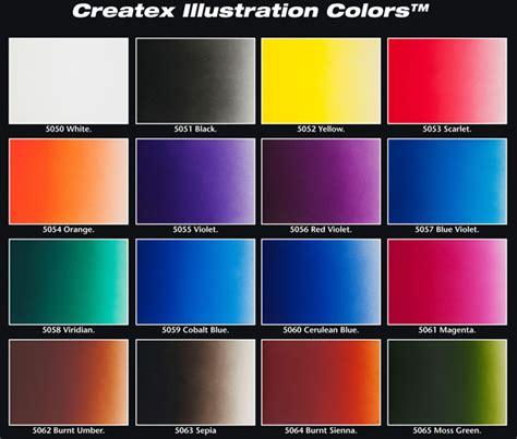 18 2oz createx illustration color wheel set airbursh