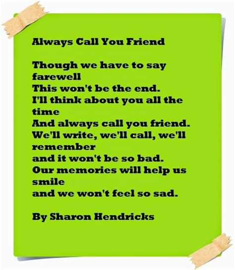 farewell poems for friends